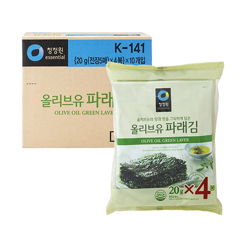 Seaweed Snack With Olive Oil(Paraegim-Whole Length)/ BOX