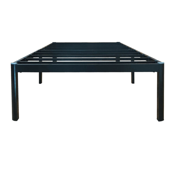 EAGOLE 14 Inch Tall Metal Slat Bed Frame,