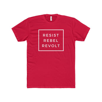Resist Rebel Revolt | Fitted Tee, T-Shirt, SJ Corbyn