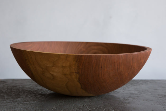 "NICKEY KEHOE CHERRY WOOD 17"" BOWL"