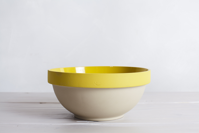 MANUFACTURE DE DIGOIN PARIS BOWL No.14, YELLOW-MIXING BOWL