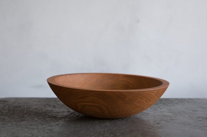 "NICKEY KEHOE CHERRY WOOD 12"" BOWL"