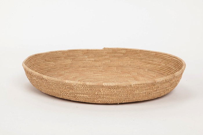 AFRICAN WOVEN BASKET TRAY