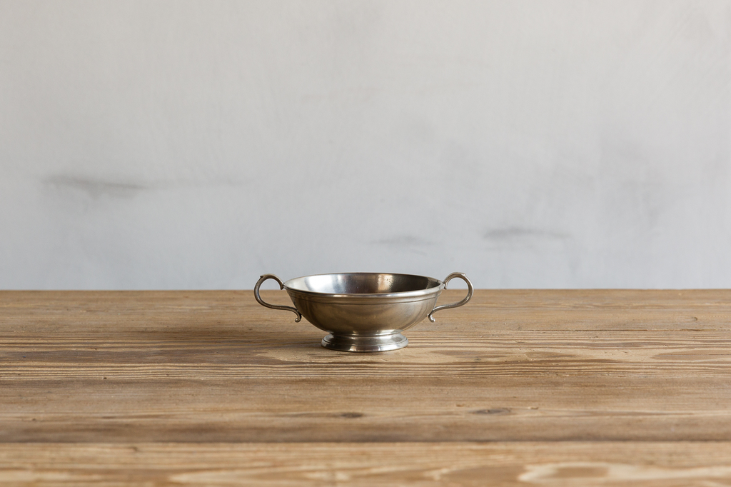 One Match Pewter Small Low Footed Bowl.