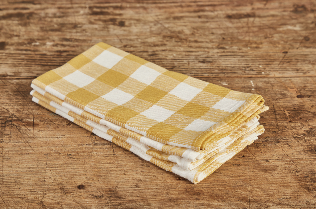 Heather Taylor Home Gingham Napkin, Sunflower