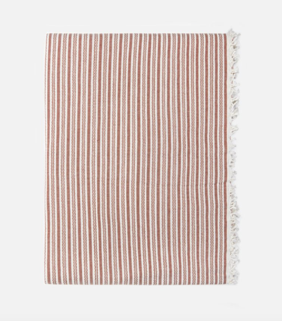 Heather Taylor Home Canyon Stripe Tablecloth