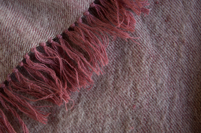 One Rose Neem Tarak Wool Throw.
