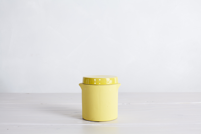 One Small Yellow Manufacture De Digoin Preserve Jar No.20.