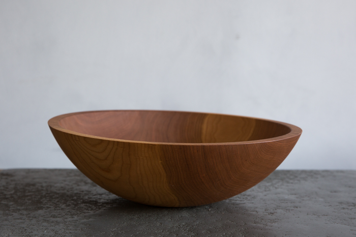 "NICKEY KEHOE CHERRY WOOD 15"" BOWL"