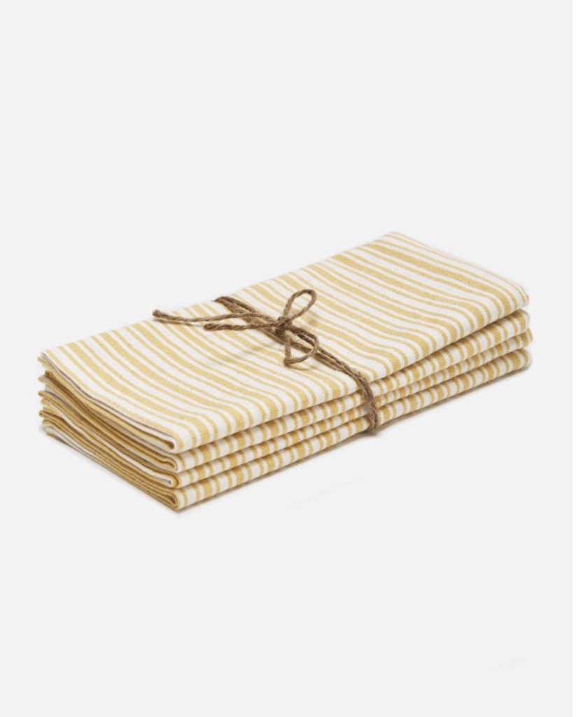 Heather Taylor Home Napkin, Sunflower, Set of 4