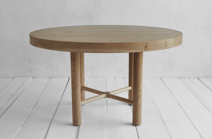 One Nickey Kehoe Round Dining Table.