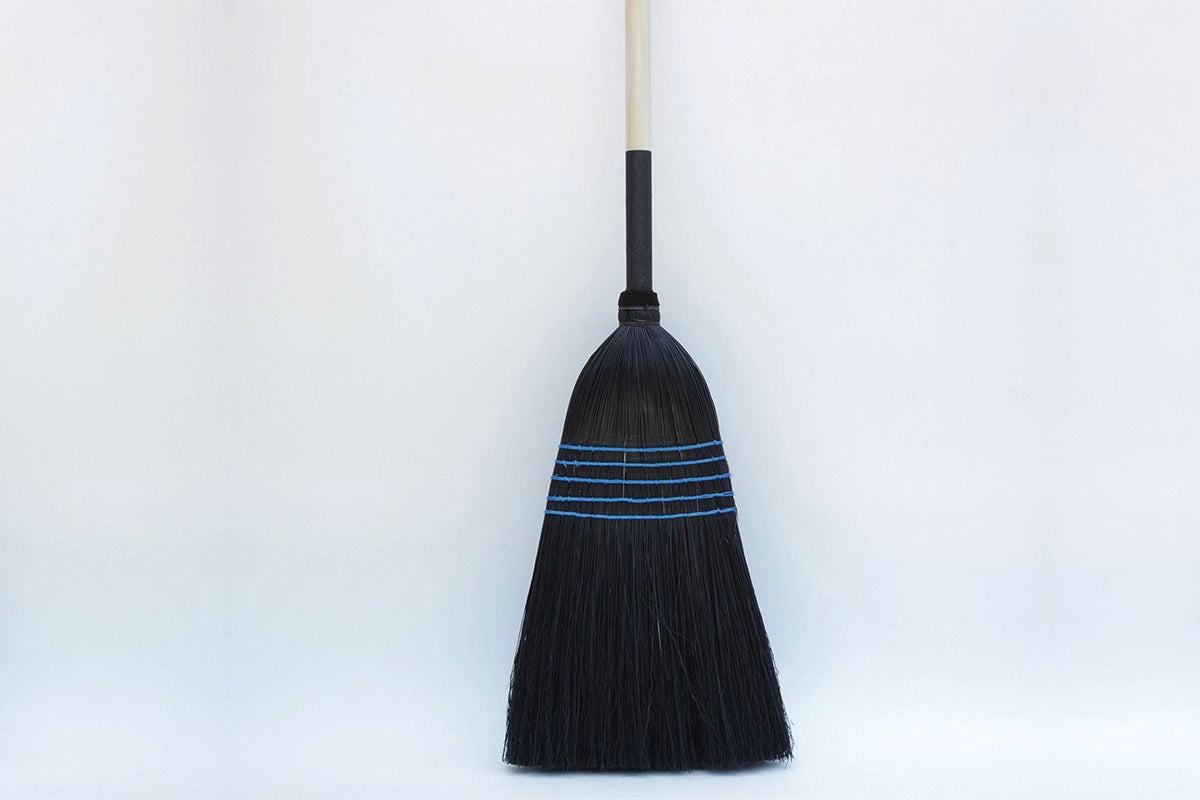 One Lostine Black and Blue Barn Broom.