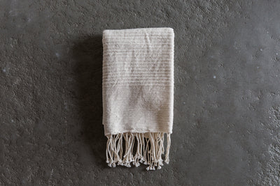 One Creative Women Ribbed Stripe Hand Towel.