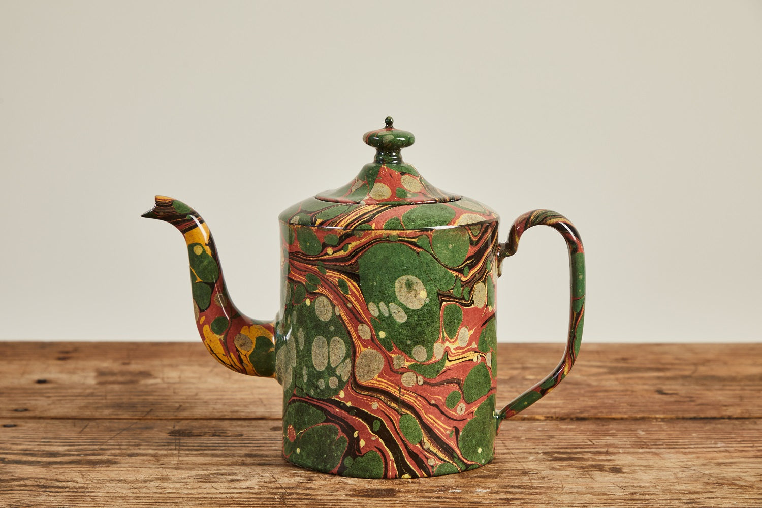 Astier De Villatte | John Derian Yellow and Green Marble Teapot