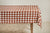 Heather Taylor Home Gingham Tablecloth, Nutmeg