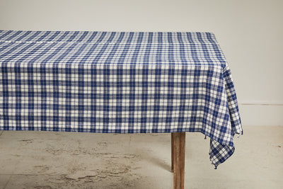 Heather Taylor Home Plaid Tablecloth, Blue