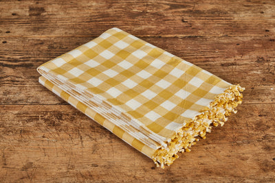 Heather Taylor Home Gingham Tablecloth, Sunflower