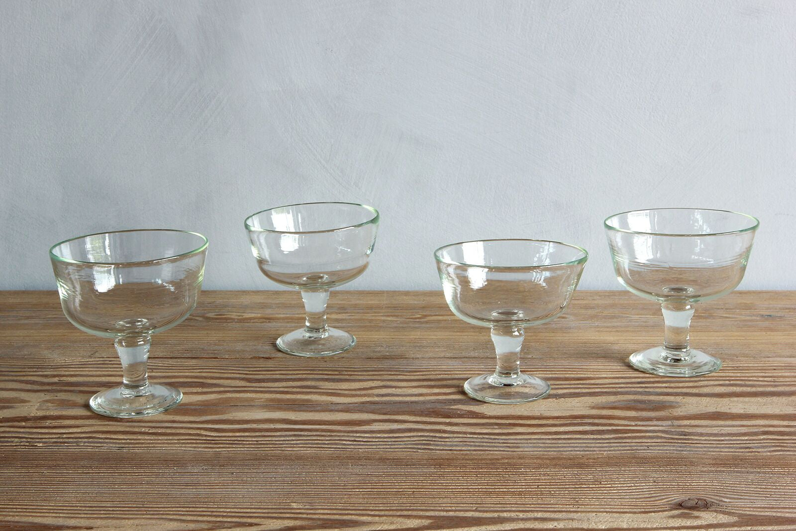 Four La Soufflerie Ice Cream Glasses.