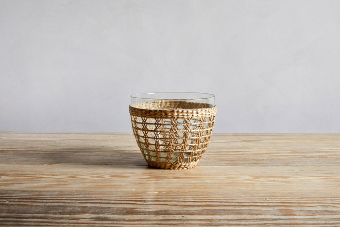 Indochine Seagrass Cage Serving Bowl.
