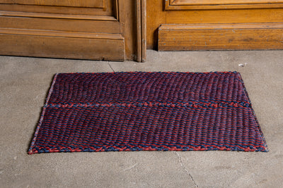One Navy Burgundy Nickey Kehoe Doormat.