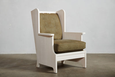 Nickey Kehoe Pine Wing Back Chair