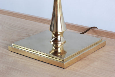 One Nickey Kehoe Turned Brass Table Lamp.