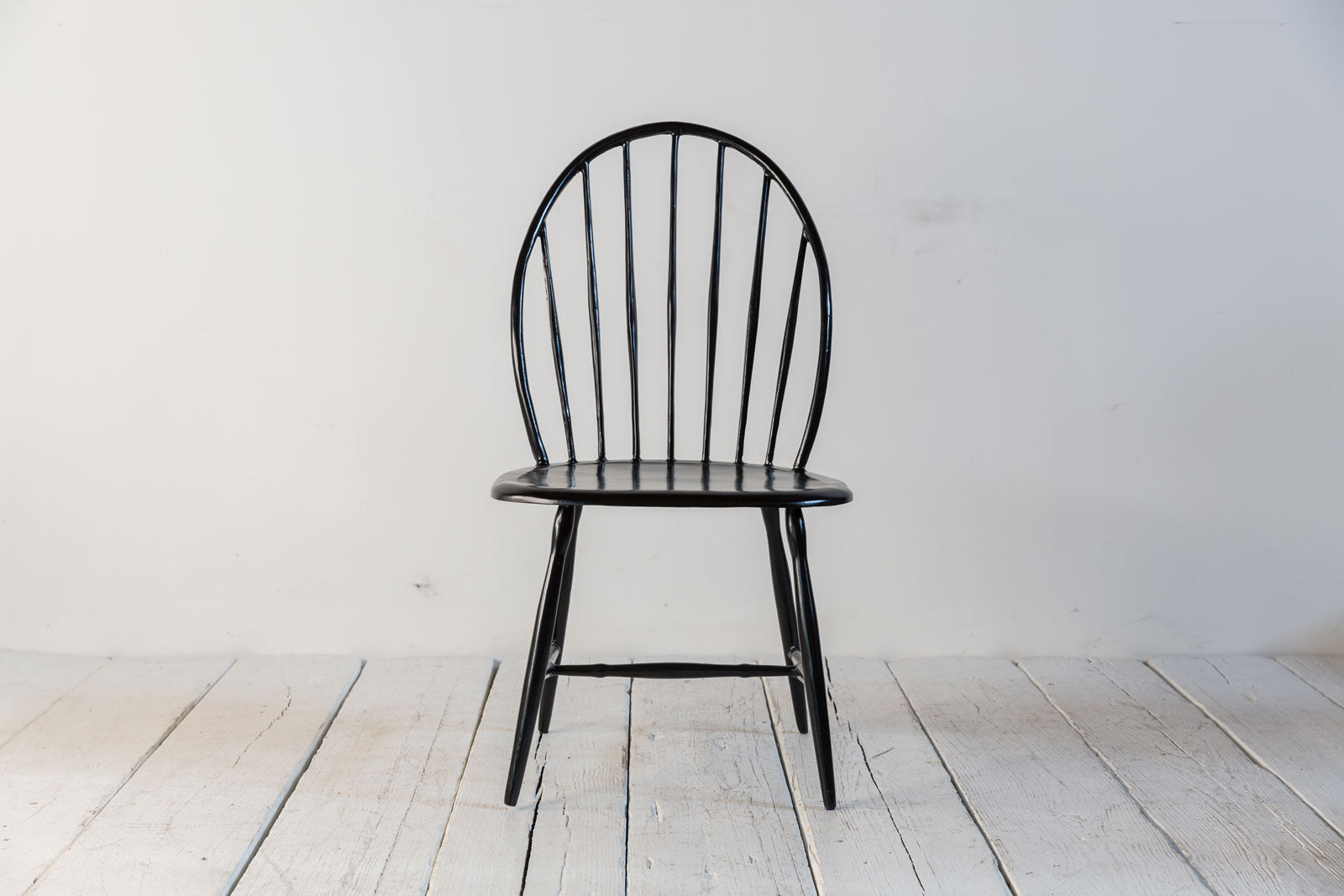 Nickey Kehoe Black Metal Armless Windor Chair ...