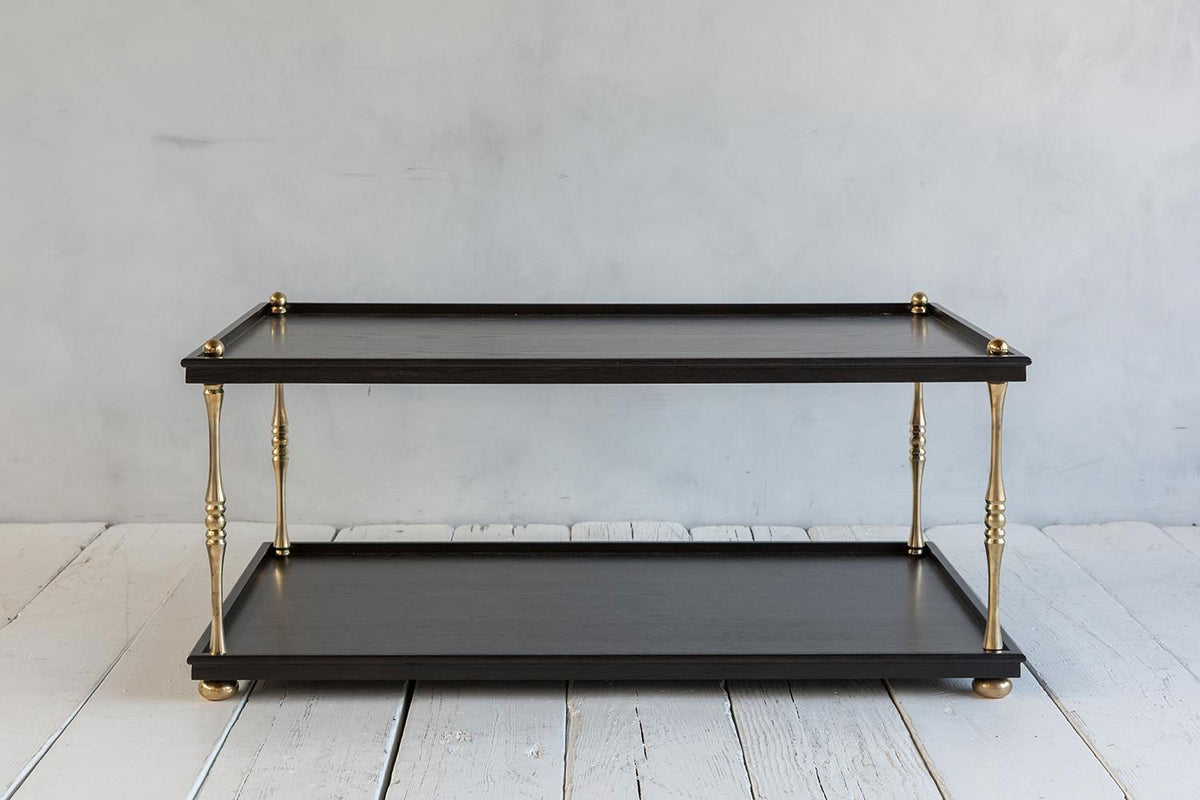 Nickey Kehoe Turned Brass Coffee Table