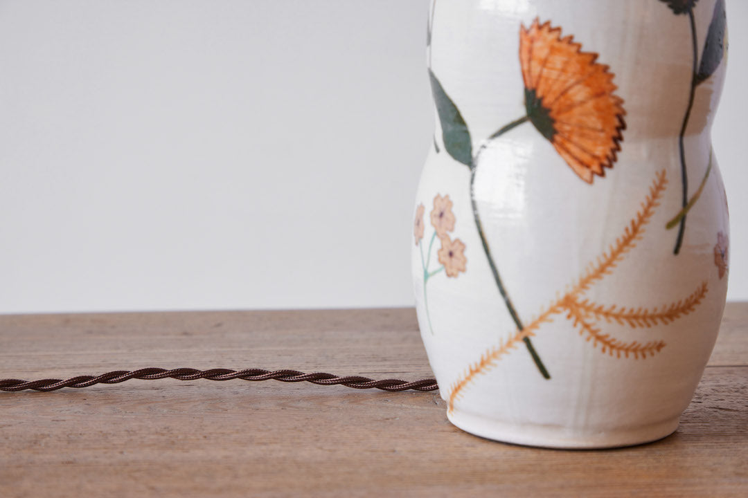 Rebekah Miles Ceramic Table Lamp, Calendula