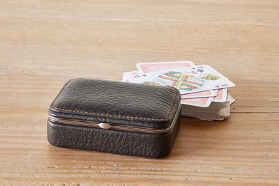 F. Hammann Leather Playing Card Case