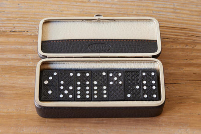 F. Hammann Leather Domino Set
