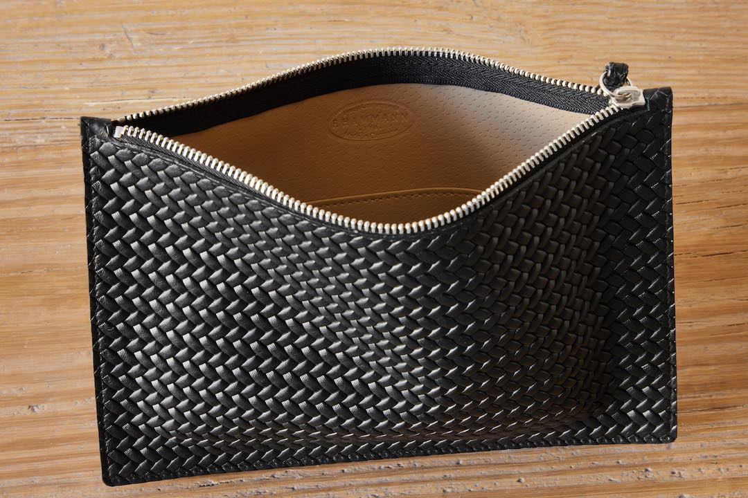 F. Hammann Slim Leather Clutch