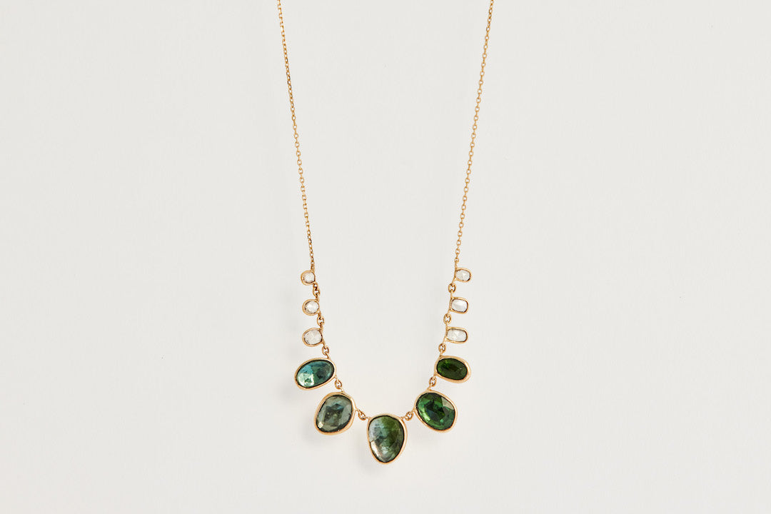 Celine D'Aoust Tourmaline and Diamond Necklace
