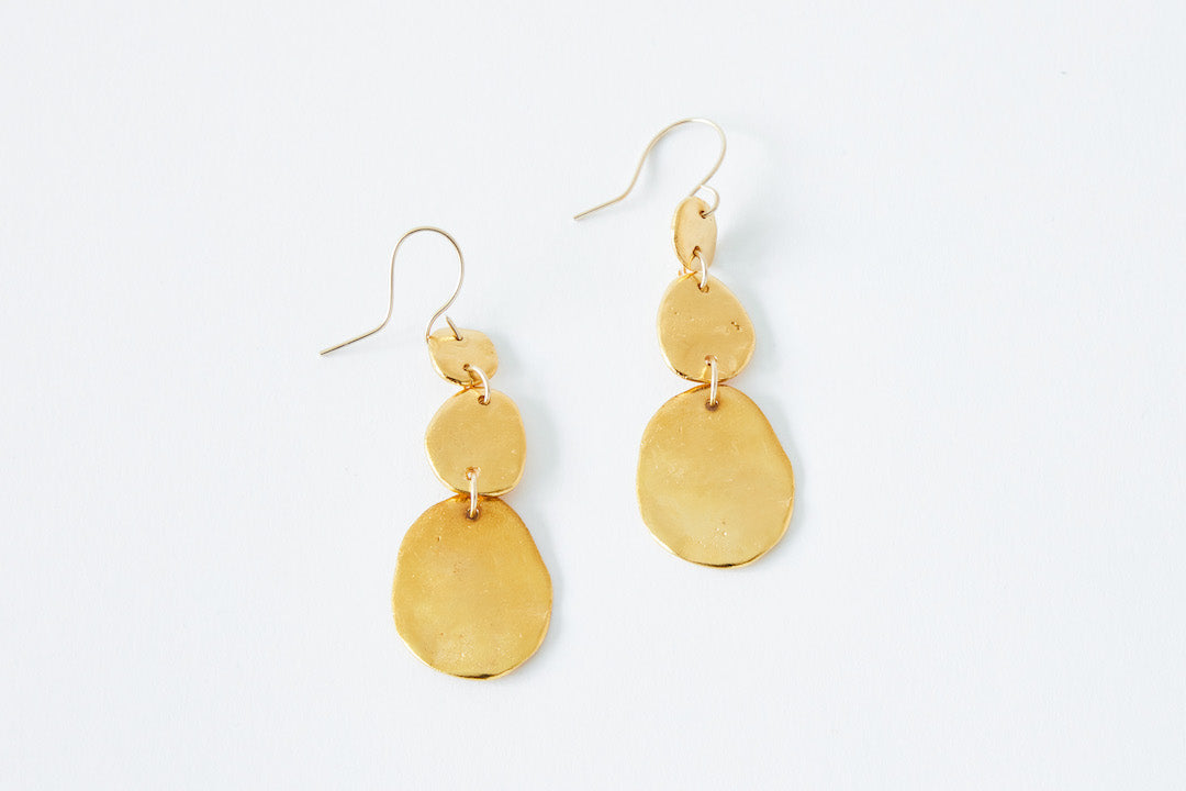 TAKARA Golden Stone Earrings