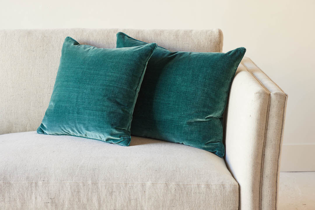 Nickey Kehoe Collection Pillow, Teal Velvet (2 Sizes)