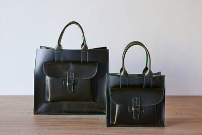 Agnes Baddoo Leather Sac, Hunter Green