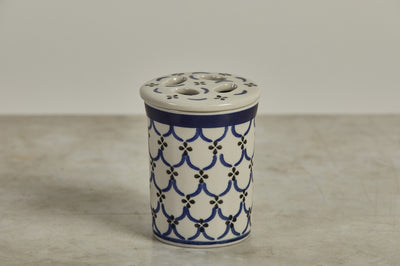 Hand Painted Ceramic Toothbrush Holder