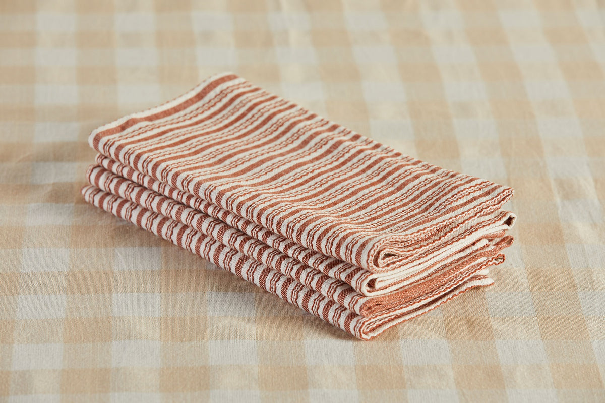 Heather Taylor Home Napkin, Canyon Stripe