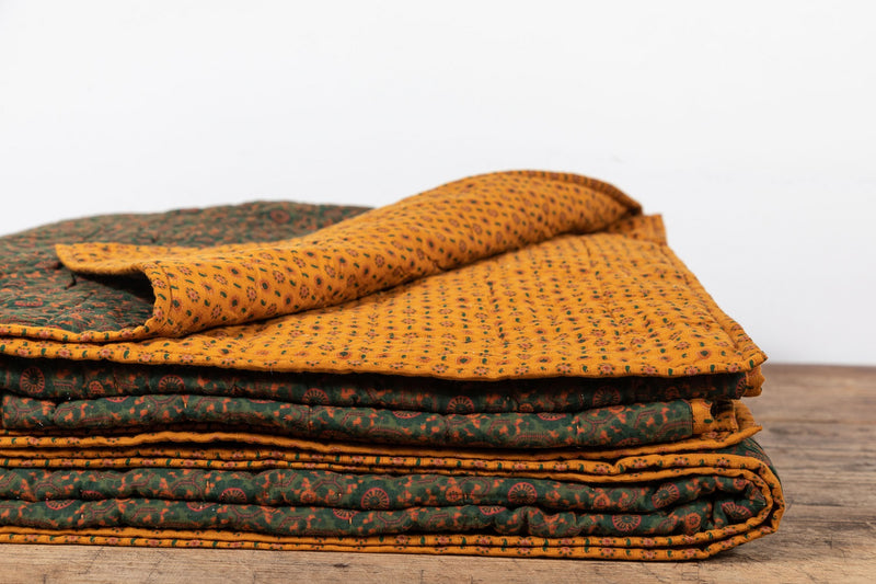 Nickey Kehoe Quilt, Marigold and Forest Pajama