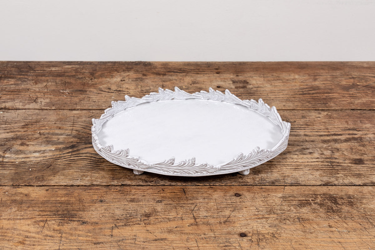 Astier De Villatte | Setsuko Oval Footed Platter With Leaves