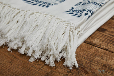 Les Indiennes Royale Bed Throw With Fringe