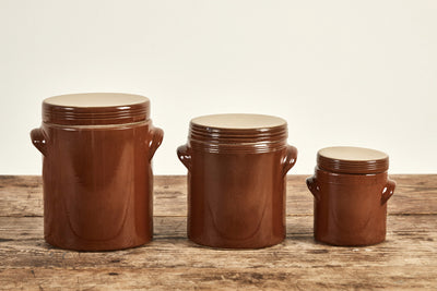 Vintage French Stoneware Jars