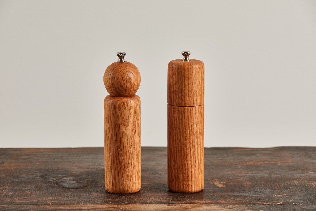 De Jong & Co. White Oak Salt And Pepper Grinders