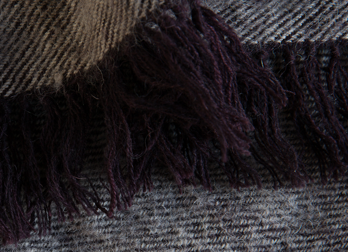 NEEM TARAK WOOL THROW - POTTERS CLAY