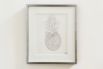 Liz Young, Botanical Drawing, Ink on Paper