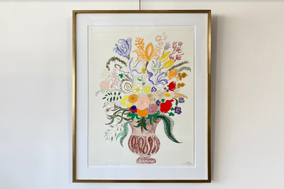 Liz Young Botanical Painting, Oil Pastel