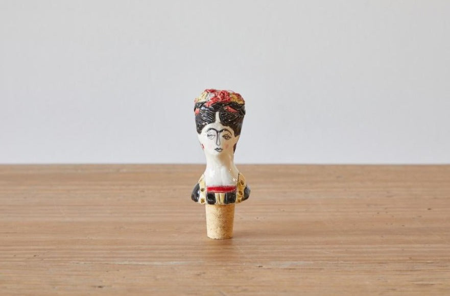 Frida Kahlo Ceramic Wine Stopper