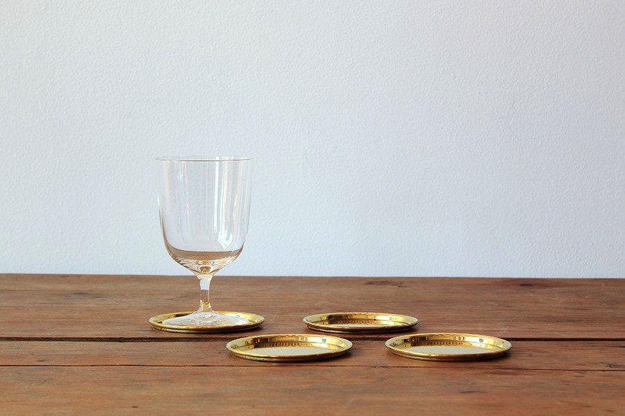 NK COLLECTION BRASS COASTERS