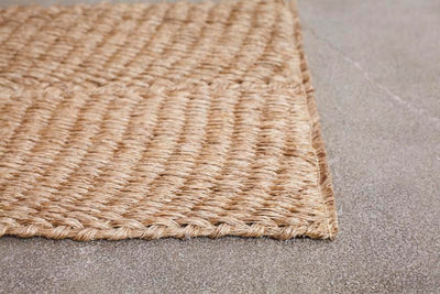 One Natural Handbraided Fique Door Mat.