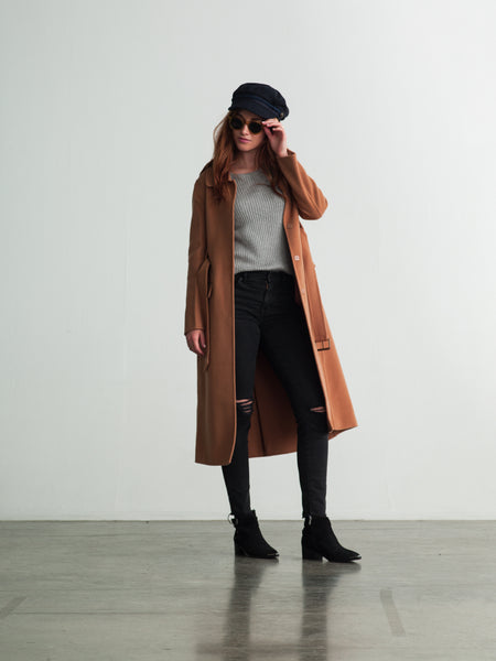Camel Wool-Cashmere Coat